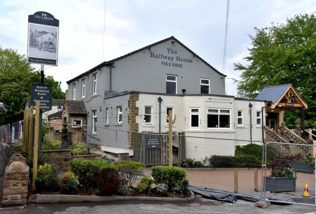 The Halfway house pub in Baildon which re-open soon.
