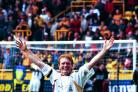 Stuart McCall celebrates Bradford City's promotion to the Premier League in 1999