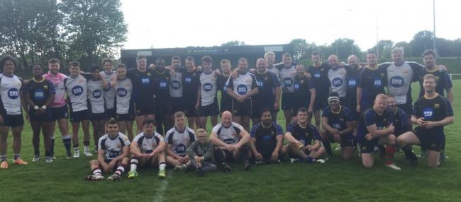 Bradford Salem and Bradford Grammar Old Boys after their Richard Birkett Memorial match  Picture:  @SalemRFC