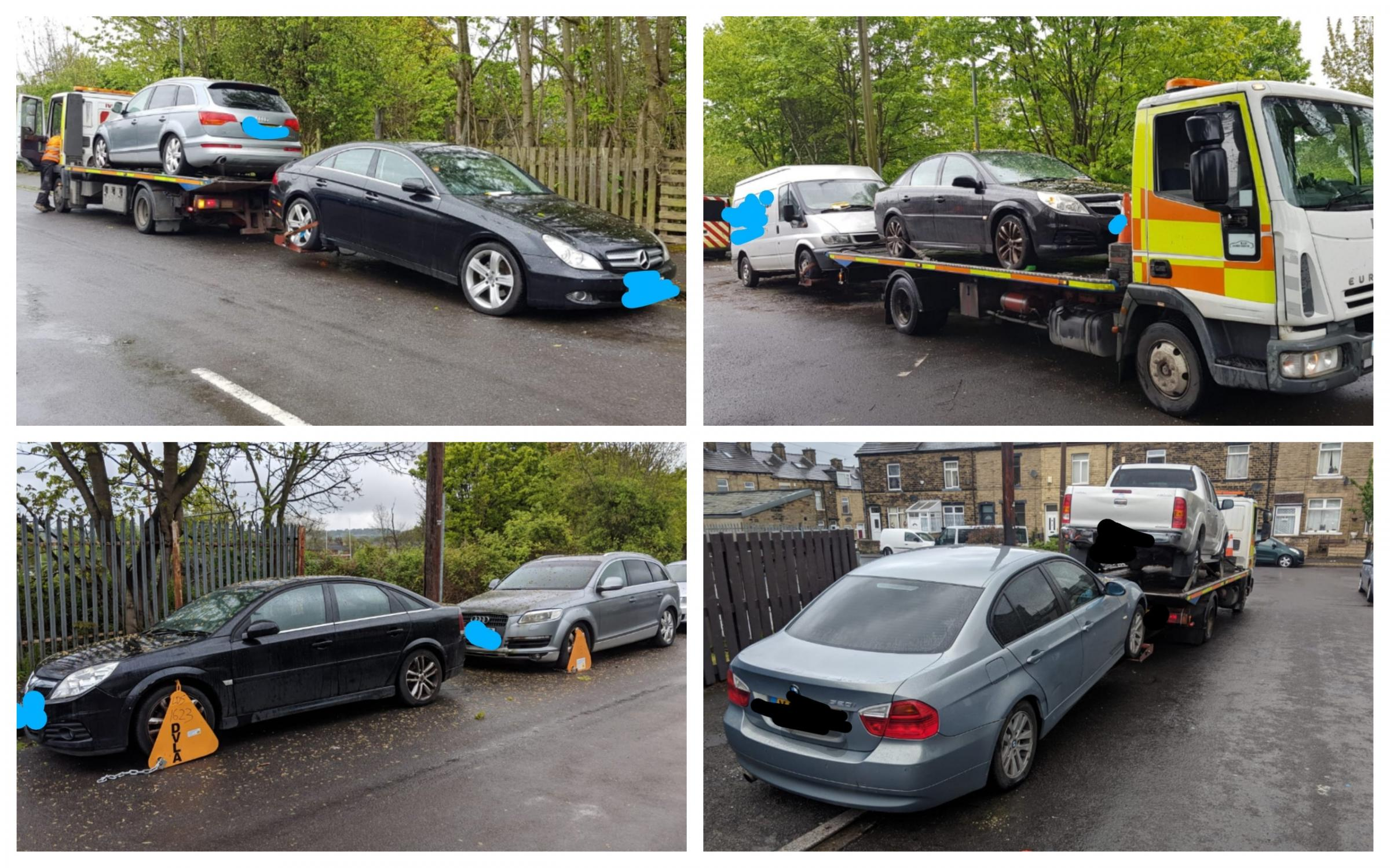 Police carry out crackdown on untaxed cars in Scholemoor