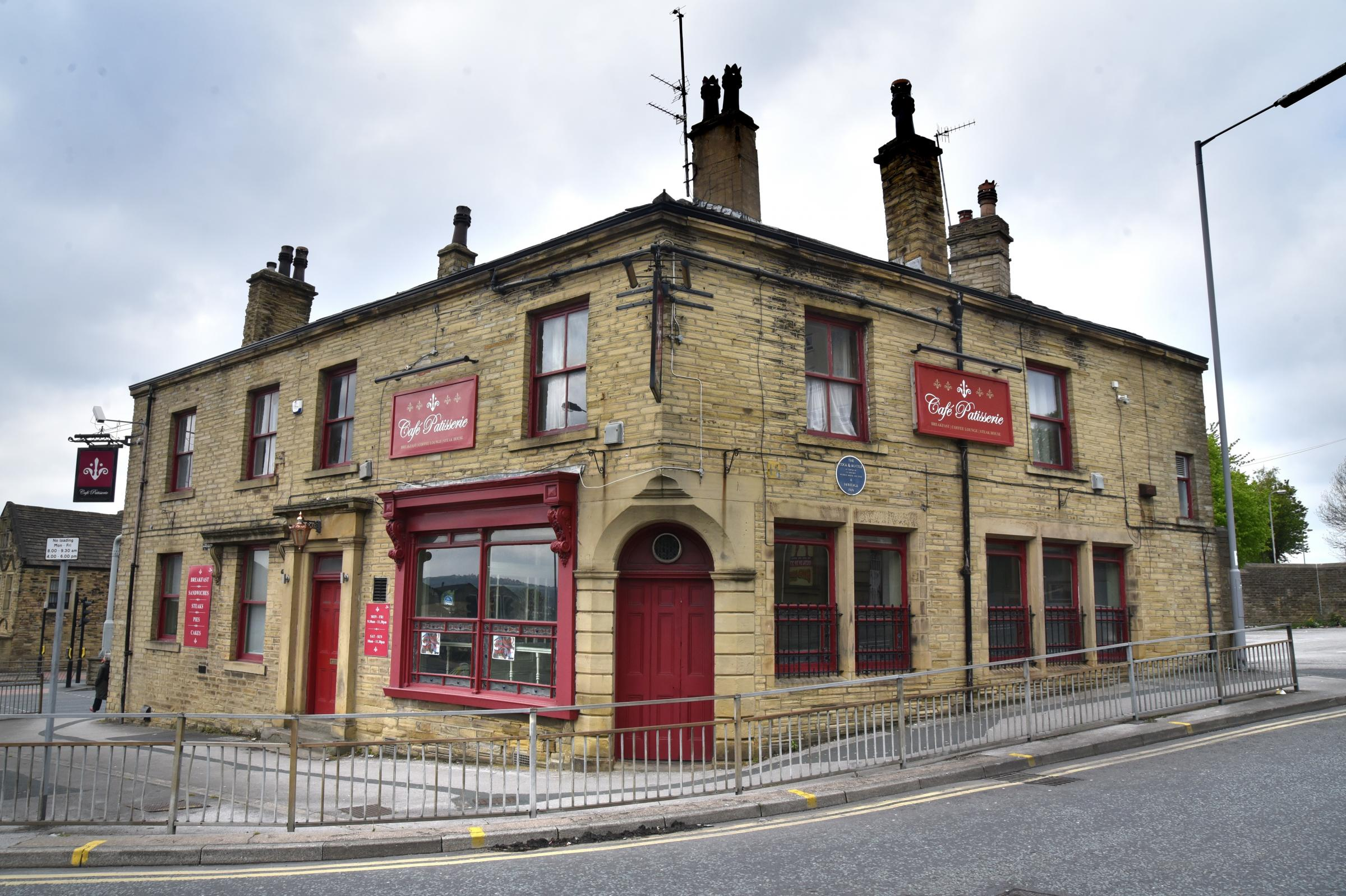 The old Cock & Bottle pub, Barkerend Road, as it stands today. Plans have been lodged to turn the upper floors into a HMO