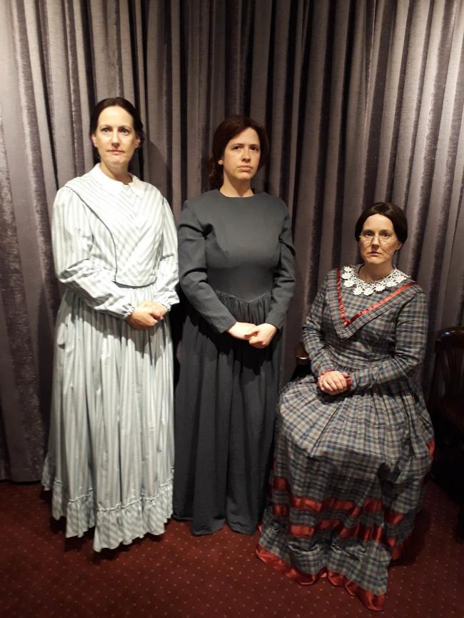 Pictured are cast members, from left, Joanne Milnes as Anne, Kate Hames as Emily and Tracy Littlewood as Charlotte