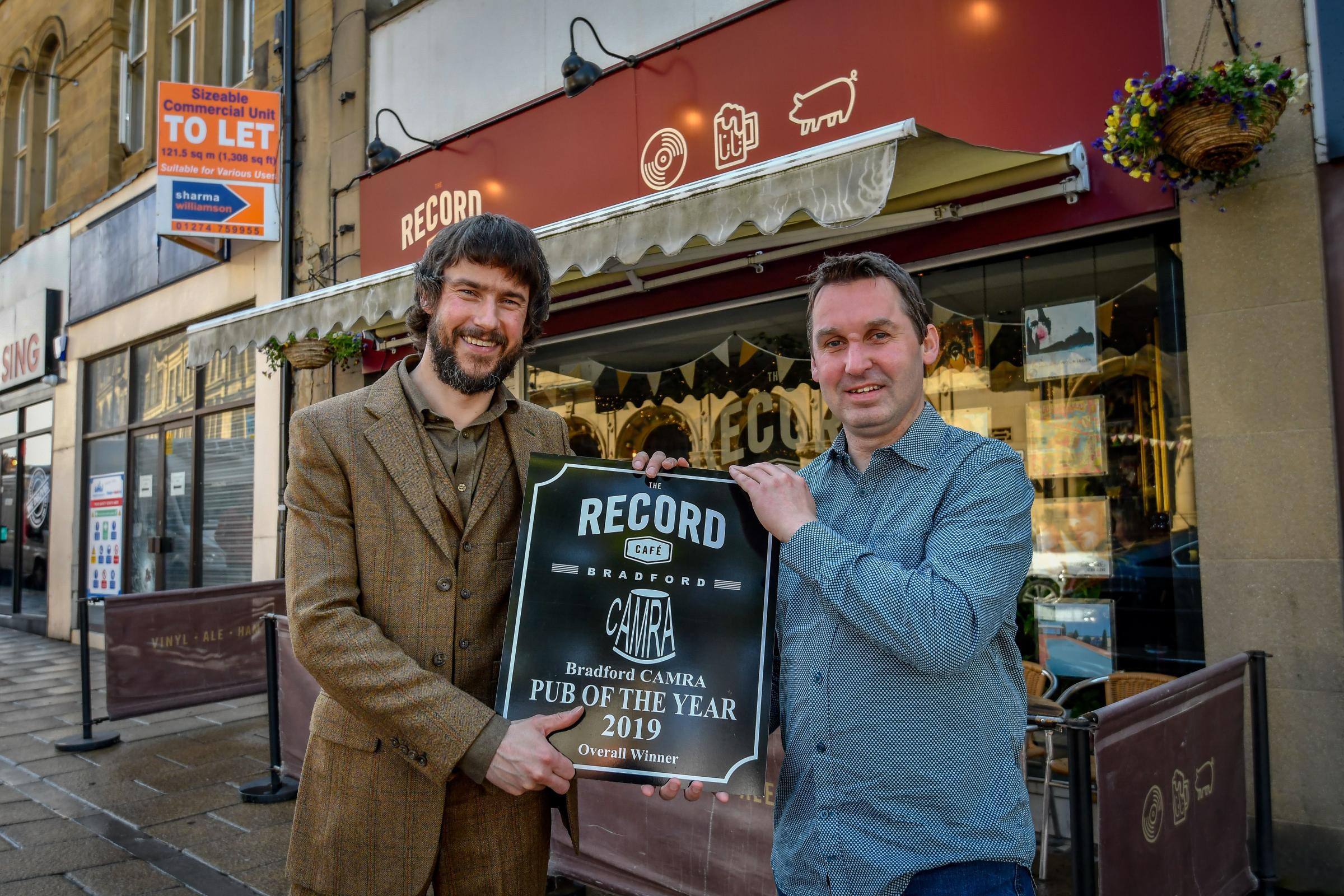 Record Café received Bradford CAMRA Pub of the Year prize