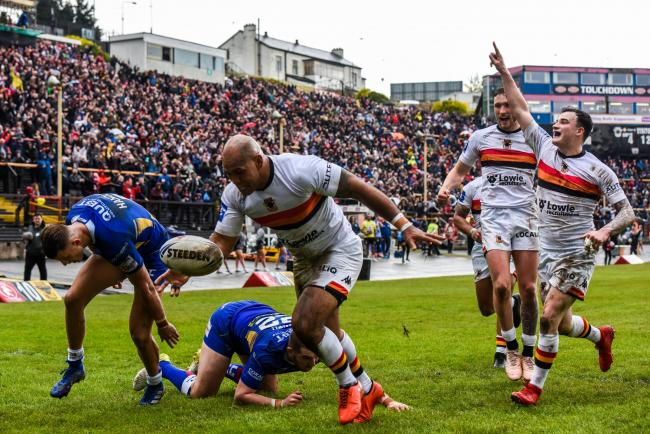 Bradford Bulls' epic victory over Leeds Rhinos in last season's Challenge Cup was also screened on BBC Picture: Tom Pearson