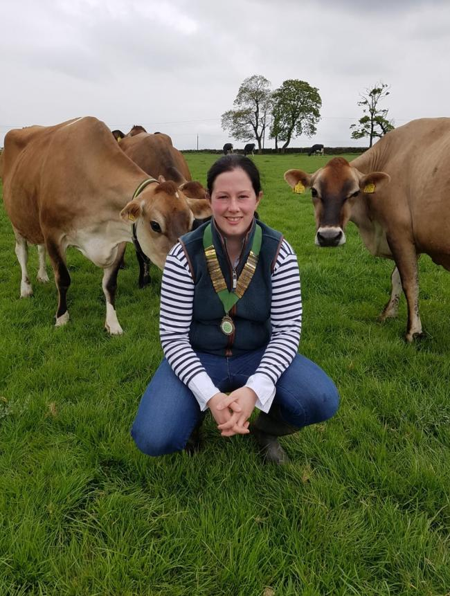Georgina Fort with some of her herd