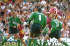 David Wetherall rises above the Liverpool defence to head City's winner