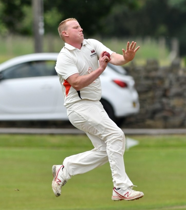 Addingham's Ted Haggas hit a half-century and took two wickets for Addingham in the Waddilove Cup on Sunday. Picture: Andy Garbutt