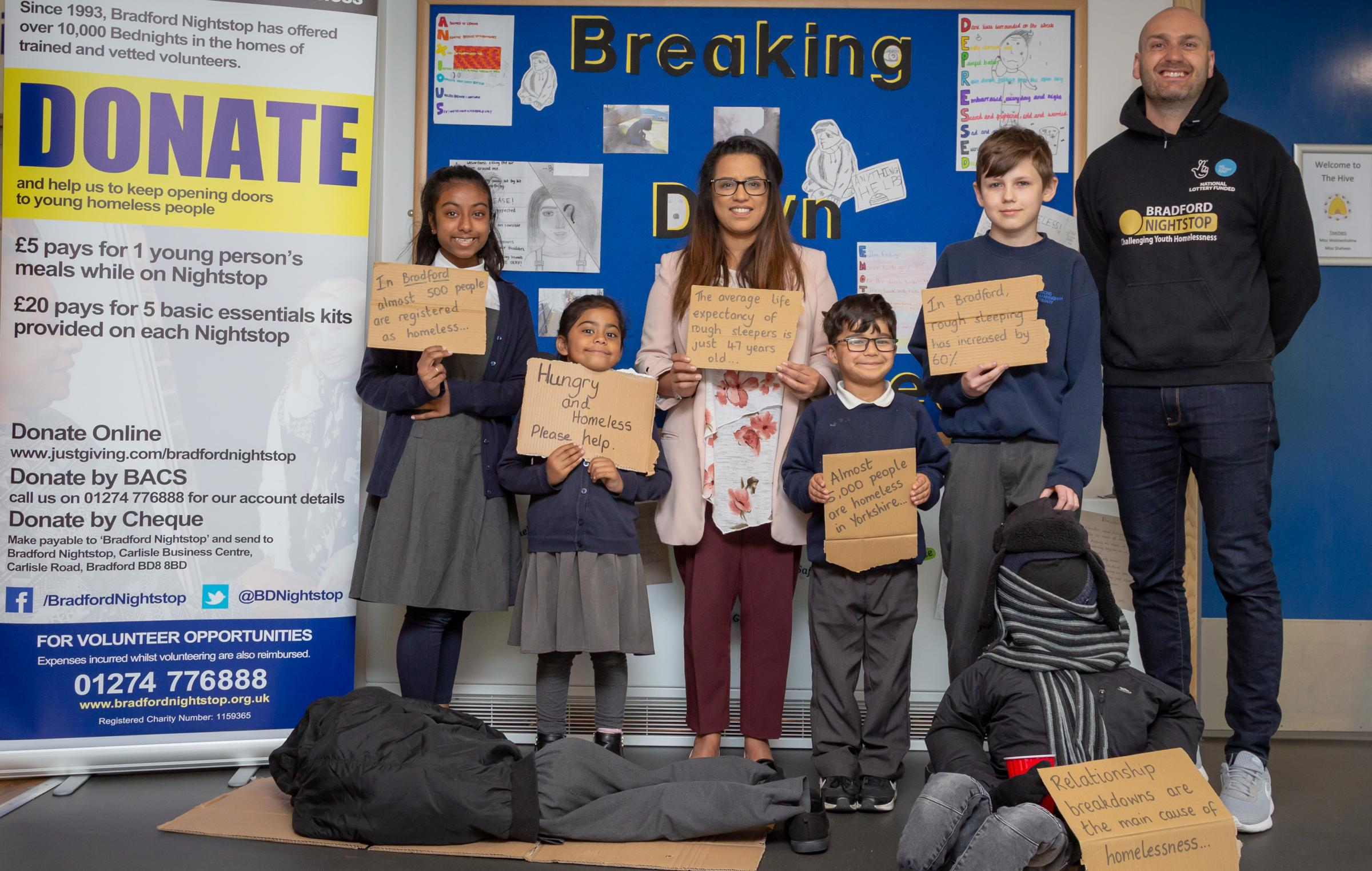 Dixons Manningham Primary working with Bradford Nightstop on homelessness