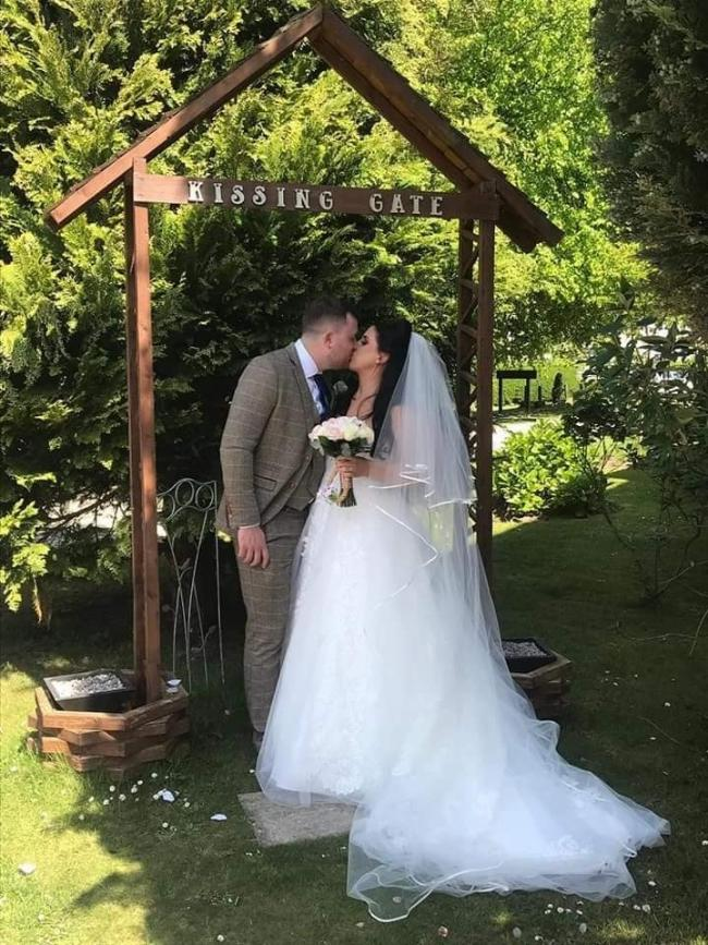 Jessica Cole on her wedding day with new husband Ben Picture: Jessica Cole (Facebook)