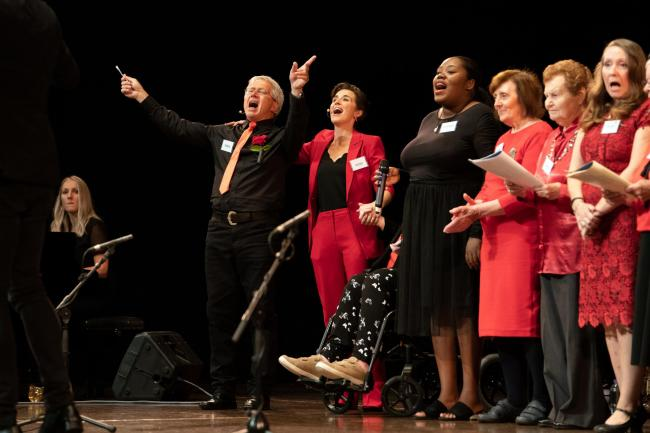 The BBC's Our Dementia Choir was an uplifting programme showing how people can live well with dementia. Picture: Pete Dadds