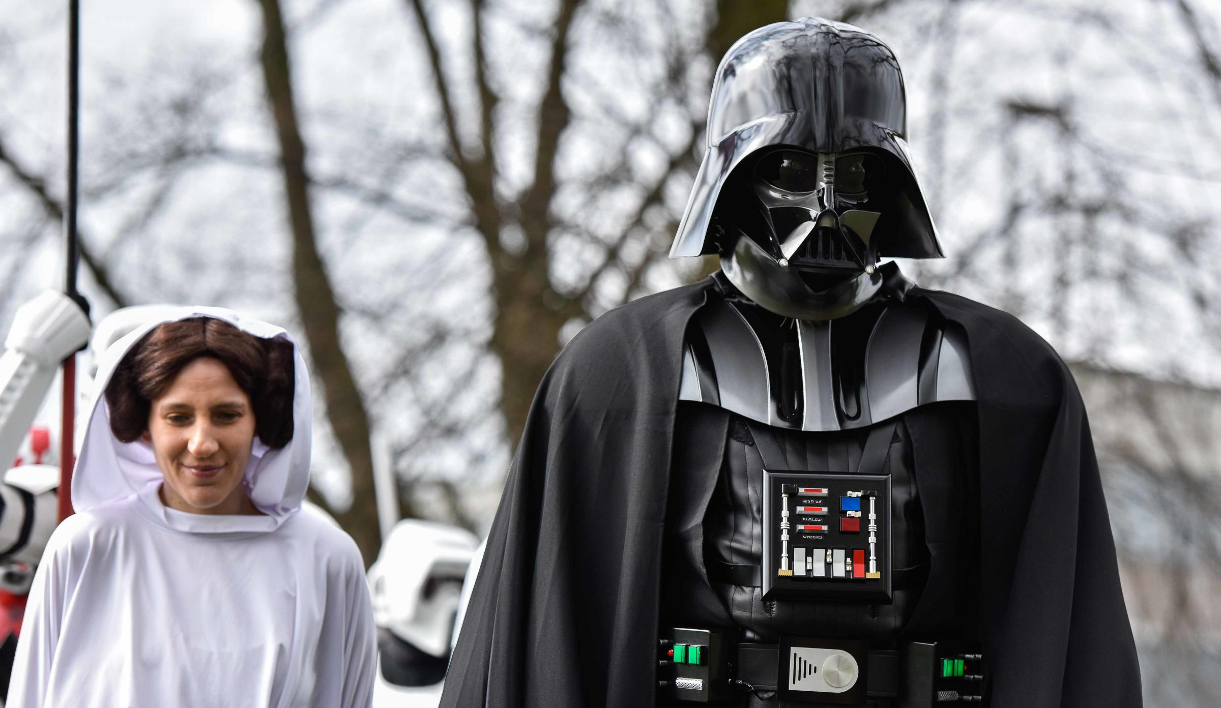 Darth Vader and other Star Wars characters in Bradford