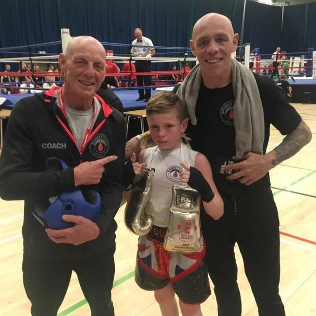 Quie Coleman won his bout at the National School Championships in Crawley.