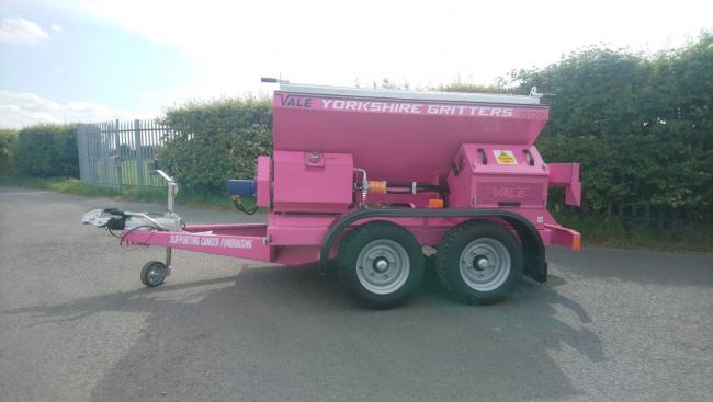 Yorkshire Gritters have added a 'pink' gritter to their fleet to help raise money for cancer charities