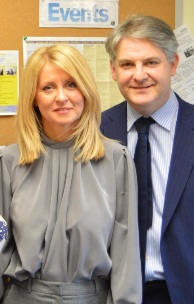 Tory MPs Esther McVey and Philip Davies tied the knot in a wedding ceremony at Westminster on Saturday.