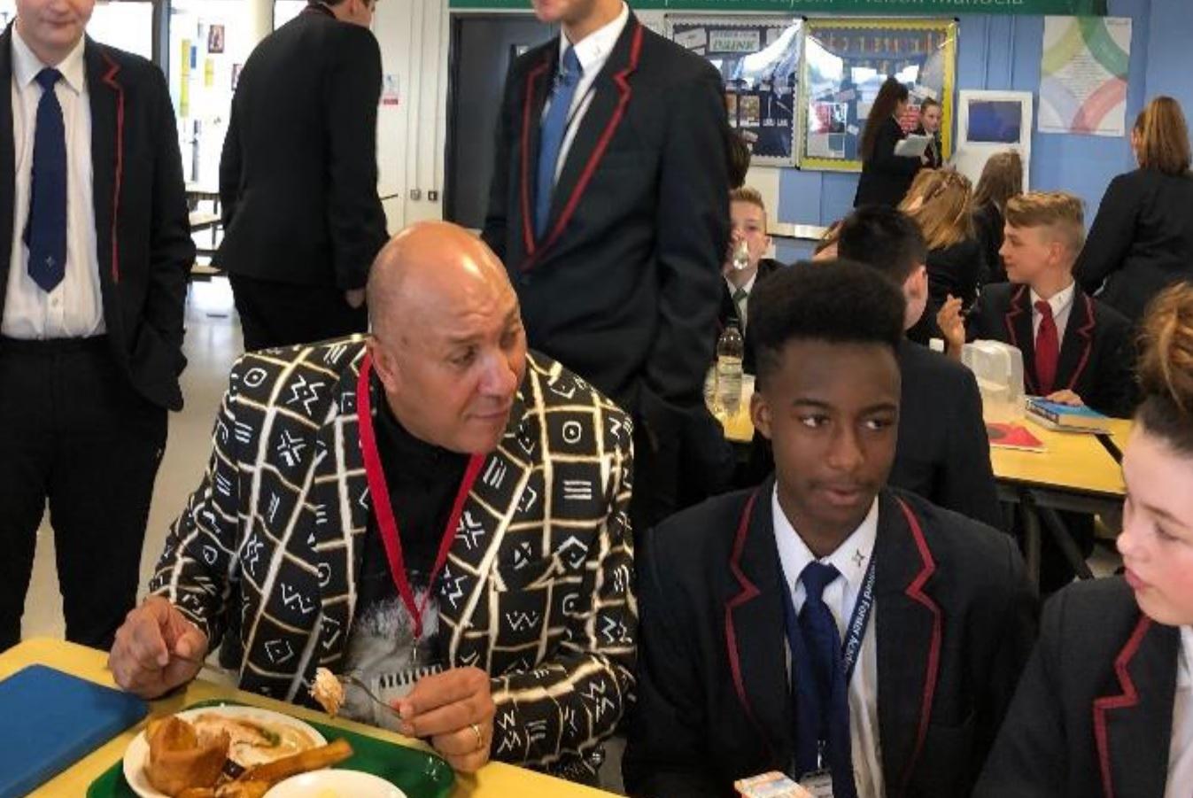 Nelson Mandela's bodyguard visits Bradford school