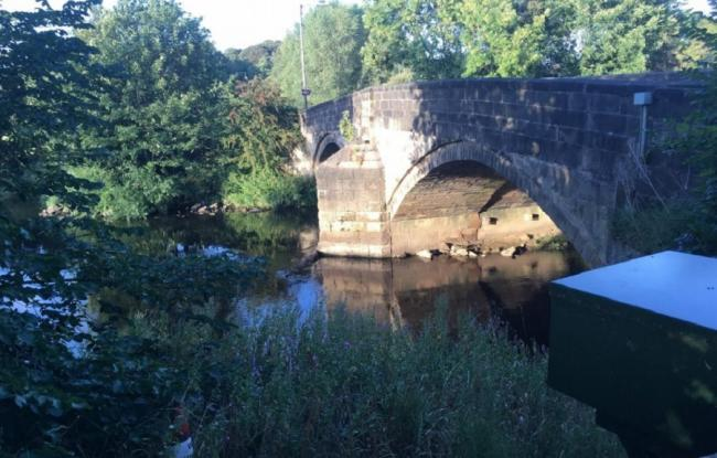 The historic bridge at Apperley Bridge