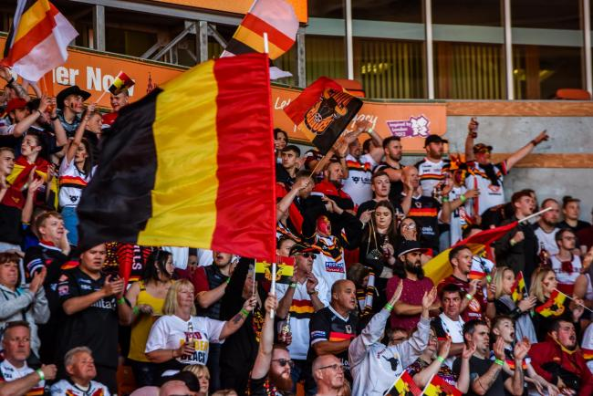 Bradford Bulls chairman has praised then strong support the club had at Blackpool for their Summer Bash defeat to Halifax. Picture: Tom Pearson