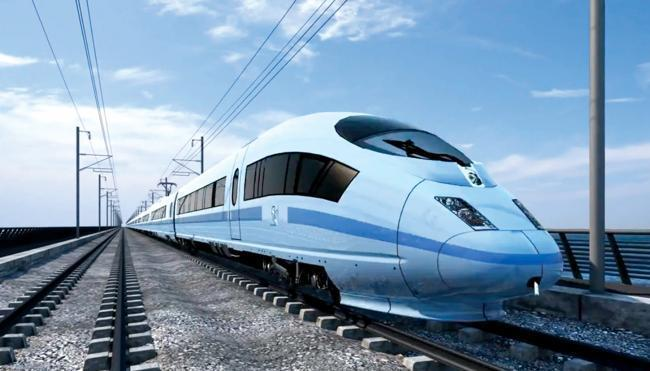 An impression of what the proposed high-speed rail link HS2 would look like