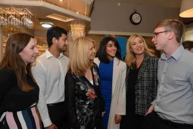 Bradford Telegraph and Argus: Esther McVey meets the public at the Brown Cow Bingley