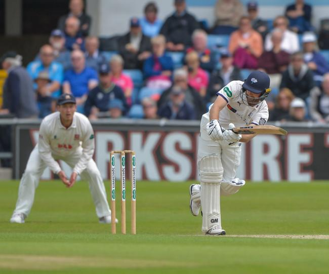 Adam Lyth top scored with 68 in Yorkshire's County Championship match against Surrey at Scarborough. Picture: Ray Spencer