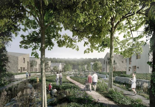 An artist's impression of how the new homes at Esholt could look