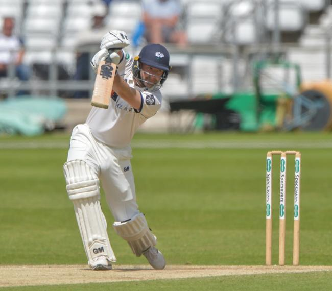 Yorkshire's Adam Lyth helped put the White Rose in control against Nottinghamshire   Picture: RAY SPENCER