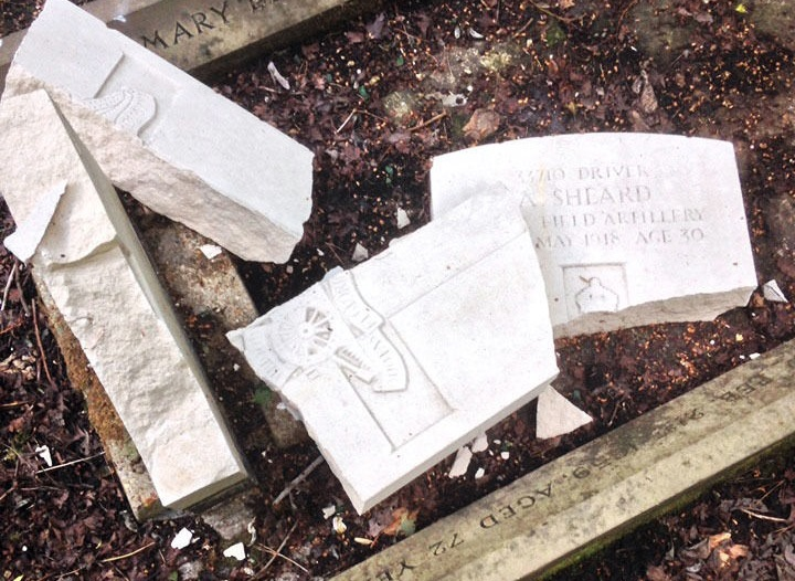 DISGUSTED: Woman hits out at war grave vandals over 'despicable' attack on uncle's memorial