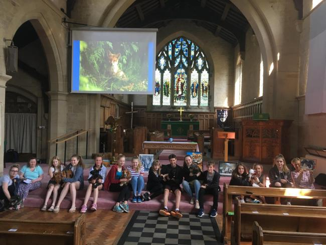 The animal blessing service at St John's, Ben Rhydding in 2018