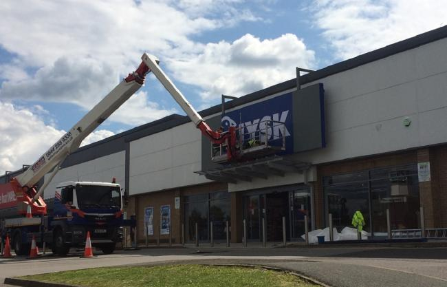 Work to finish off the JYSK store in Manningham Retail Park