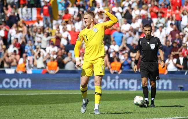 Jordan Pickford scored and saved a penaly in England's penalty shoot-out victory over Switzerland in the Nations League