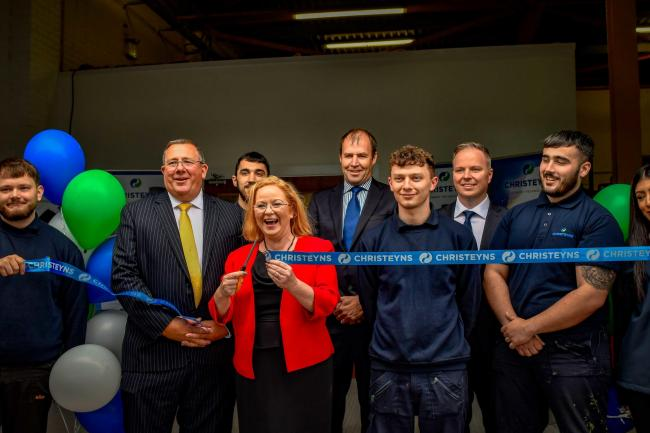 Local MP Judith Cummins opens Christeyns' new engineering division