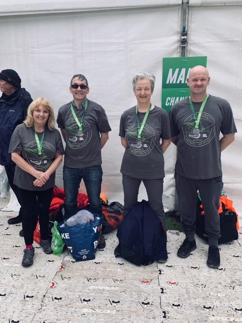From left, Incommunities' Geraldine Howley, Greg Robinson, Adrienne Reid and Mark Crane at the Great North Swim