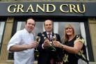 Owners Bernd and Sharon Wolf, pictured outside their new restaurant in Birkenshaw, Grand Cru