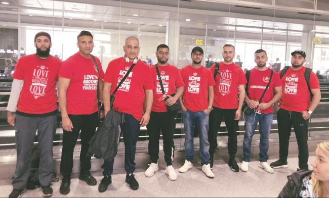 The team of volunteers from Bradford who visited the Turkey and Syria border