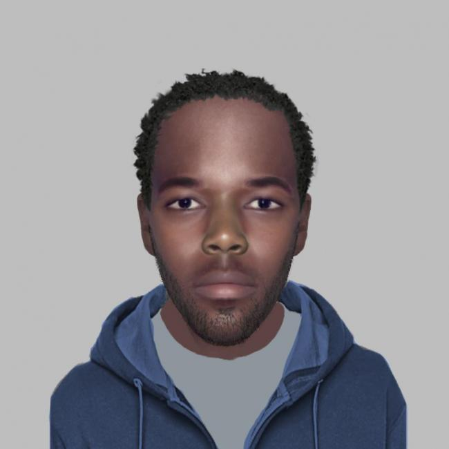An e-fit of the robbery suspect