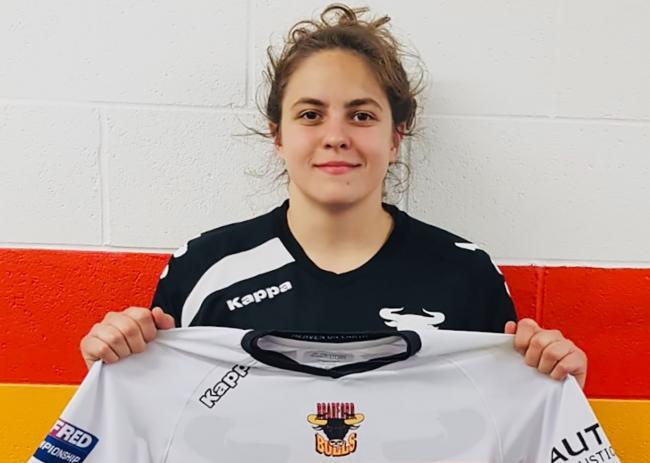 Ecem Acikgoz scored a try on her Bradford Bulls Women debut against Castleford Tigers