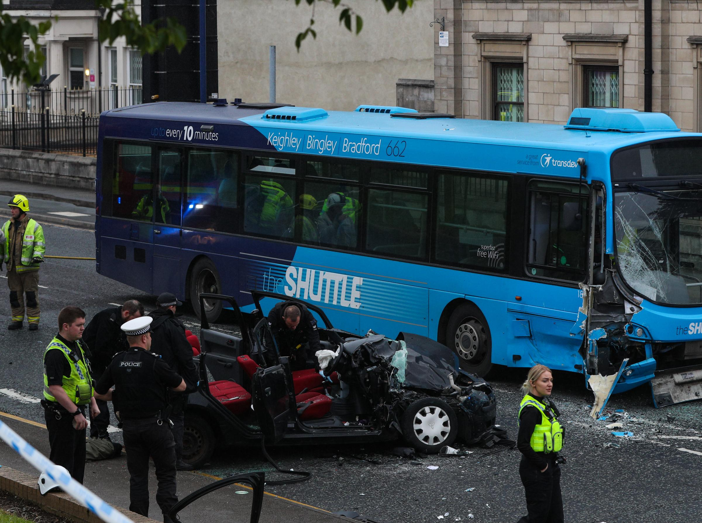 Car driver suffered broken bones in Manningham Lane bus collision