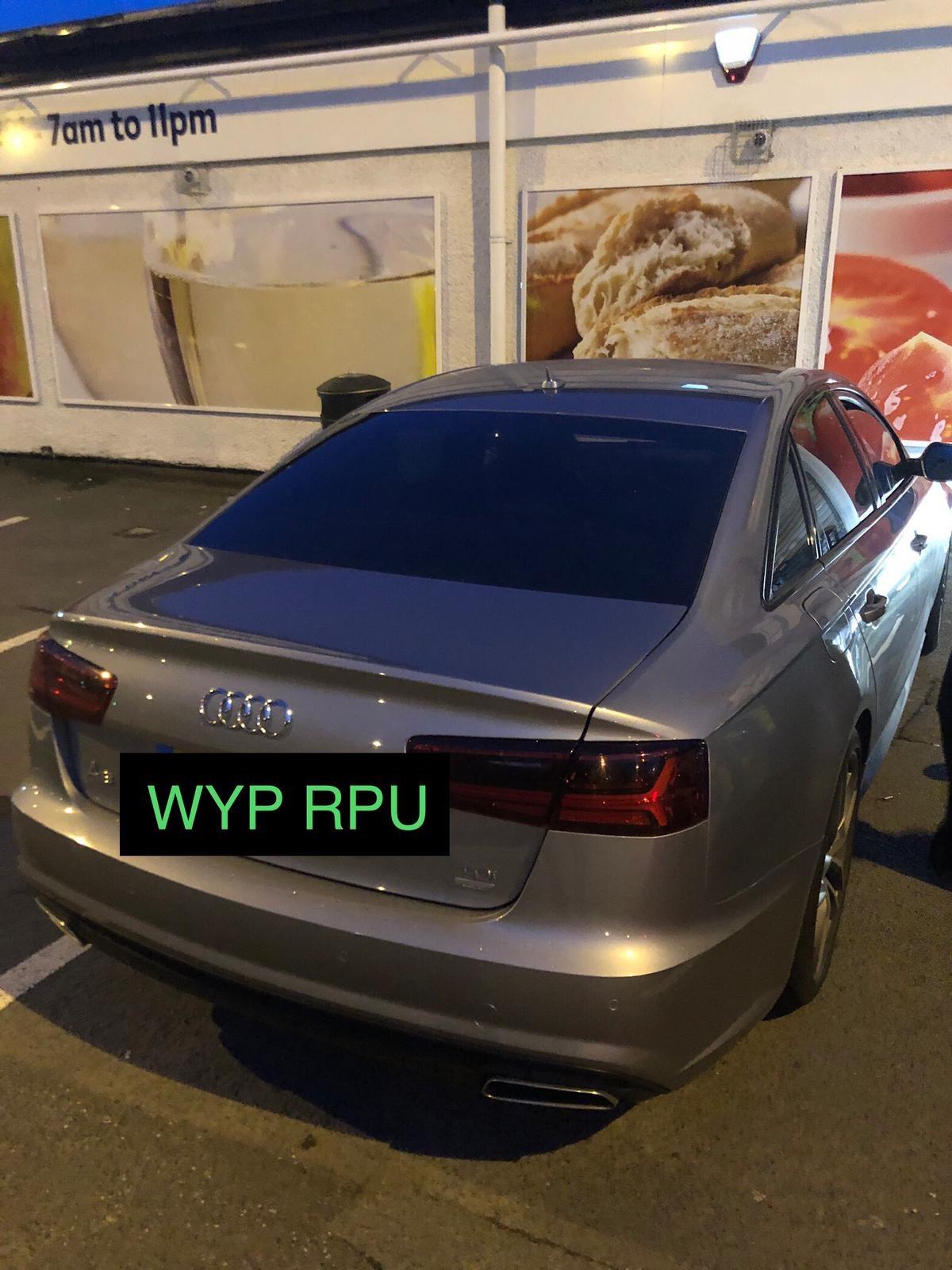 Stolen Audi stopped in Leeds Road, Bradford